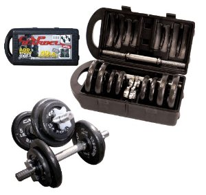 40-pound dumbbell set